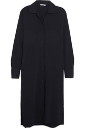 Helmut Lang Stretch Crepe Tunic Navy