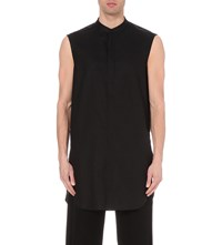 Thamanyah Elongated Sleeveless Shirt Black