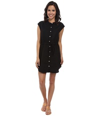 Allen Allen Sleeveless Shirt Dress Black Women's Dress