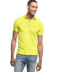 Tommy Hilfiger Custom Fit Ivy Polo Provence Yellow