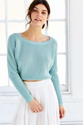 Kimchi And Blue Kimchi Blue Off Shoulder Cropped Sweater Sky