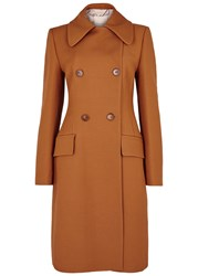 Roksanda Ilincic Newell Orange Double Breasted Wool Blend Coat