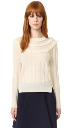 Marc Jacobs Pointelle Crew Neck Sweater Ivory