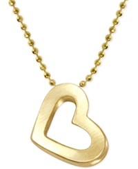 Alex Woo Heart Pendant Necklace In 14K Gold Yellow Gold