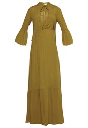 Intropia Maxi Dress Olive Yellow
