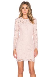 Karina Grimaldi Carla Lace Mini Dress Blush