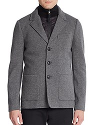 Mackage Jaks Knit Wool Blend Jacket And Puffer Vest Grey