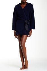 Josie Shaggy Wrap Robe Blue