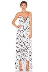 Line And Dot Jacqueline Dot Maxi Dress Cream