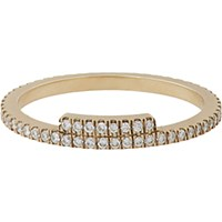 Monique Pean Women's Diamond And White Gold Stacking Band No Color