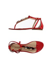 Annarita N. Footwear Thong Sandals Women Red