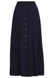 Banana Republic Maxi Skirt Preppy Navy Dark Blue