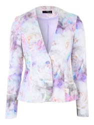 Jane Norman Floral Jacquard Jacket Multi Coloured