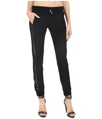 Philipp Plein Side Sheer Paneled Joggers Black