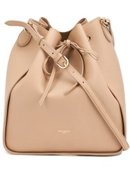 Nina Ricci String Tie Bucket Cross Body Bag Nude And Neutrals