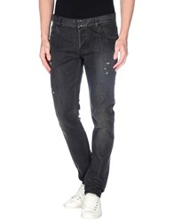 Messagerie Denim Denim Trousers Men Steel Grey