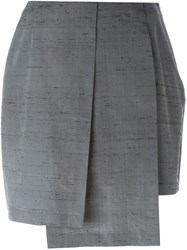 Gigli Vintage Pleated Layered Skirt Grey