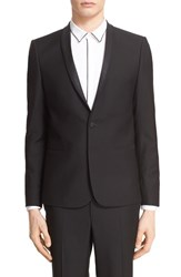 Men's The Kooples Trim Fit Tuxedo Jacket With Grosgrain Trim