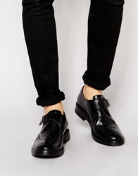 Base London Farleigh Leather Monk Shoes Black