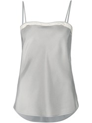 Thom Browne Contrast Trim Cami Top Grey