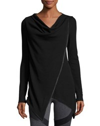 Marc New York Asymmetric Draped Tunic Black