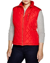 Calvin Klein Plus Quilted Puffer Vest Rouge