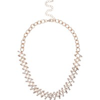 River Island Womens Gold Tone Interlinking Chain Necklace