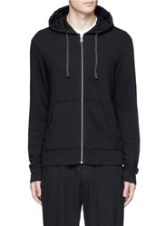 James Perse Vintage Fleece Zip Hoodie Black