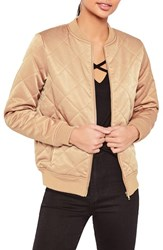 Missguided Women's Quilted Satin Bomber Jacket