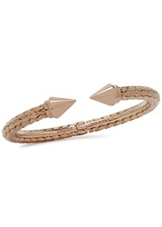 Vita Fede Mini Titan Snake Effect Rose Gold Plated Bangle