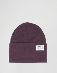 Wesc Puncho Knitted Beanie Purple