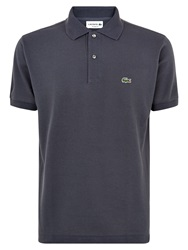 Lacoste Pique Men S Short Sleeve Polo Charcoal