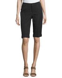 Neiman Marcus Bi Stretch Walking Shorts Black