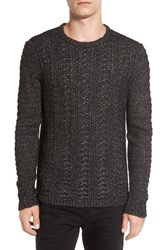 John Varvatos Men's Star Usa Textured Knit Sweater Black
