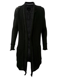 Spr Open Knit Cardigan Black