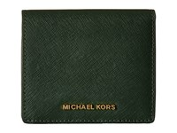 Michael Michael Kors Jet Set Travel Carryall Card Case Moss Credit Card Wallet Green