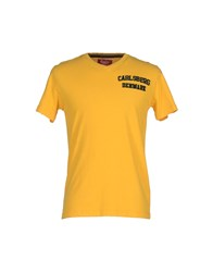 Carlsberg Topwear T Shirts Men Yellow