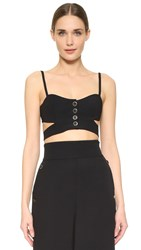 Temperley London Nico Crossover Top Black