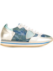 Philippe Model Panelled Retro Sneakers Multicolour