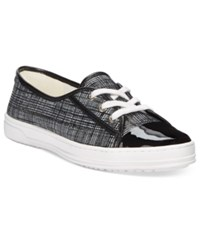 Anne Klein Zagger Lace Up Sneakers Black White