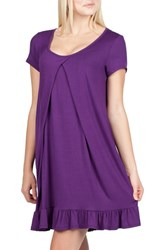 Savi Mom Women's San Francisco Maternity Nursing Nightgown Purple