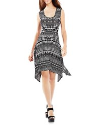 Bcbgmaxazria Ane Knit Jacquard Dress Black Combo