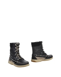Sperry Top Sider Ankle Boots Black