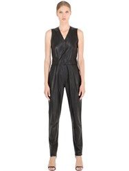 Jose' Sanchez Sleeveless Nappa Leather Jumpsuit