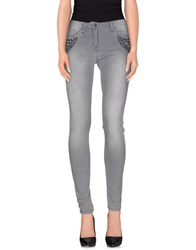 Annarita N. Denim Denim Trousers Women Grey