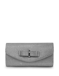 Jessica Mcclintock Evelyn Sparkle Convertible Clutch Silver