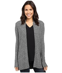 Lilla P Multicolor Cotton Blend Open Duster Granite Women's Clothing Gray