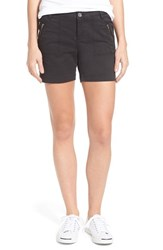 Caslon Women's 'Addison' Zip Pocket Shorts Black