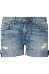 Current Elliott The Boyfriend Distressed Denim Shorts Light Denim