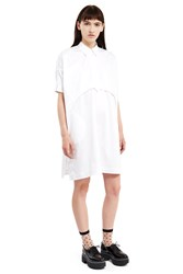 Opening Ceremony Sateen Button Down Dress White